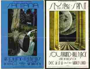 Santana Sly and the Family Stone 1968 Handbill