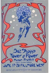 Boz Scaggs 1971 Fillmore Concert Handbill