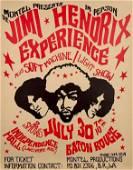 Jimi Hendrix Experience - 1968 Baton Rouge Poster