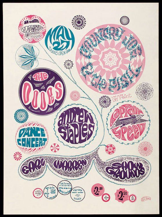 The Doors - Country Joe & the Fish - 1967 Poster