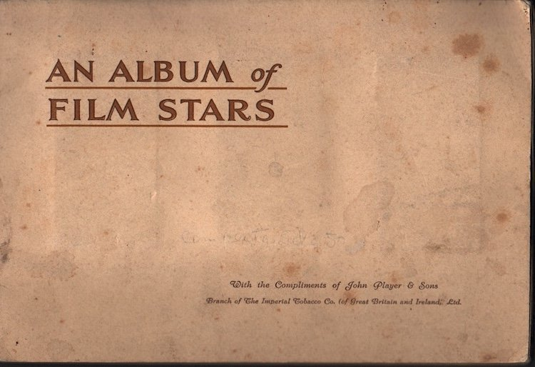 An Album of Film Stars - 1934 Tobacco Card Set