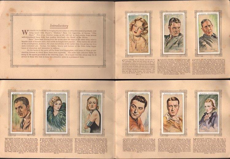 An Album of Film Stars - 1934 Tobacco Card Set - 2