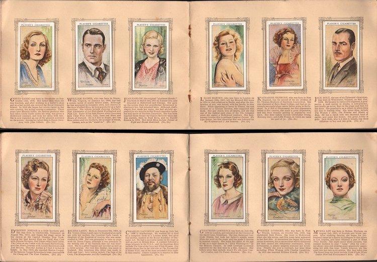 An Album of Film Stars - 1934 Tobacco Card Set - 4