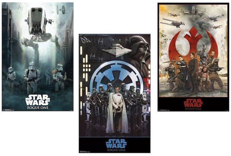 Star Wars - Rogue One - Complete Set of Movie Posters