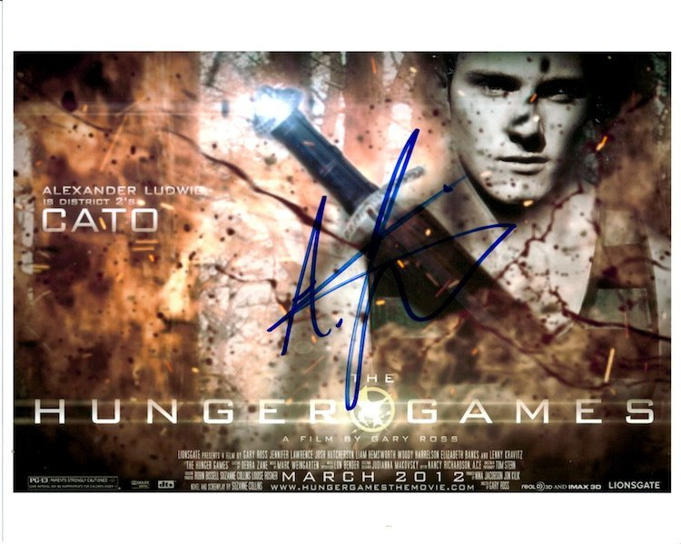 Hunger Games - Alexander Ludwig - Autograph