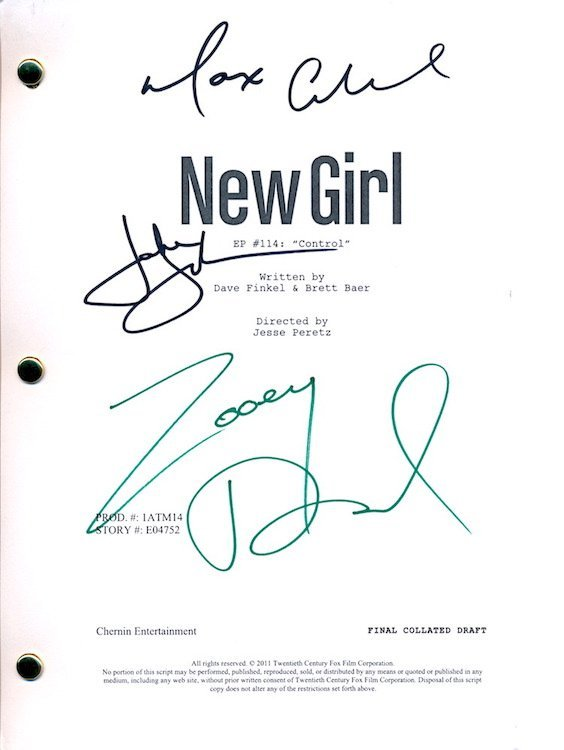 New Girl - Autographed Group Lot