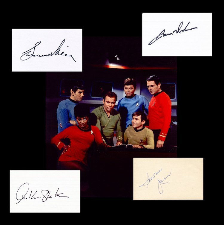 Star Trek - Autographed Group Lot
