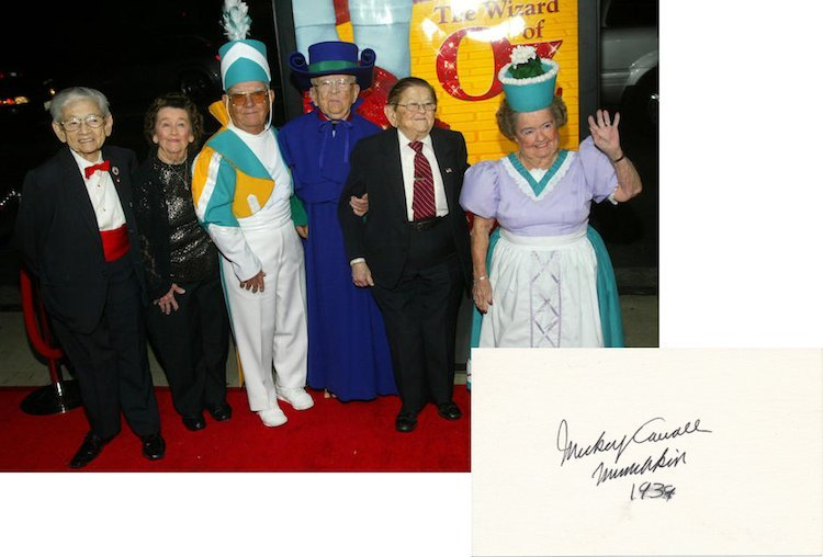 The Wizard of Oz - Munchin Mickey Carroll - Autograph