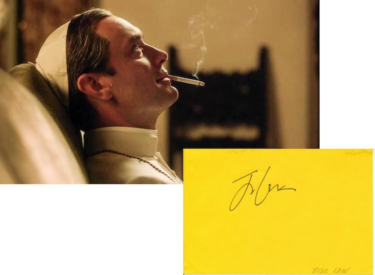 The Young Pope - Jude Law - Autograph