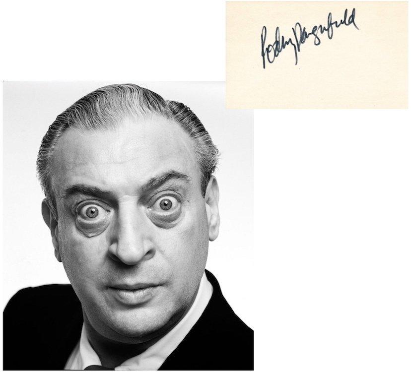 Rodney Dangerfield Autograph with Bally's Ticket Stub