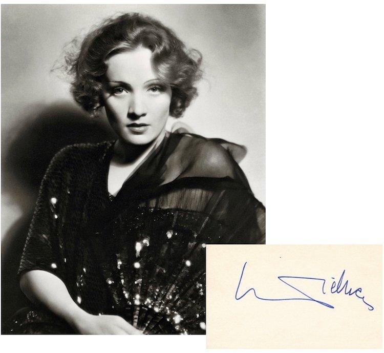Marlene Dietrich Autograph