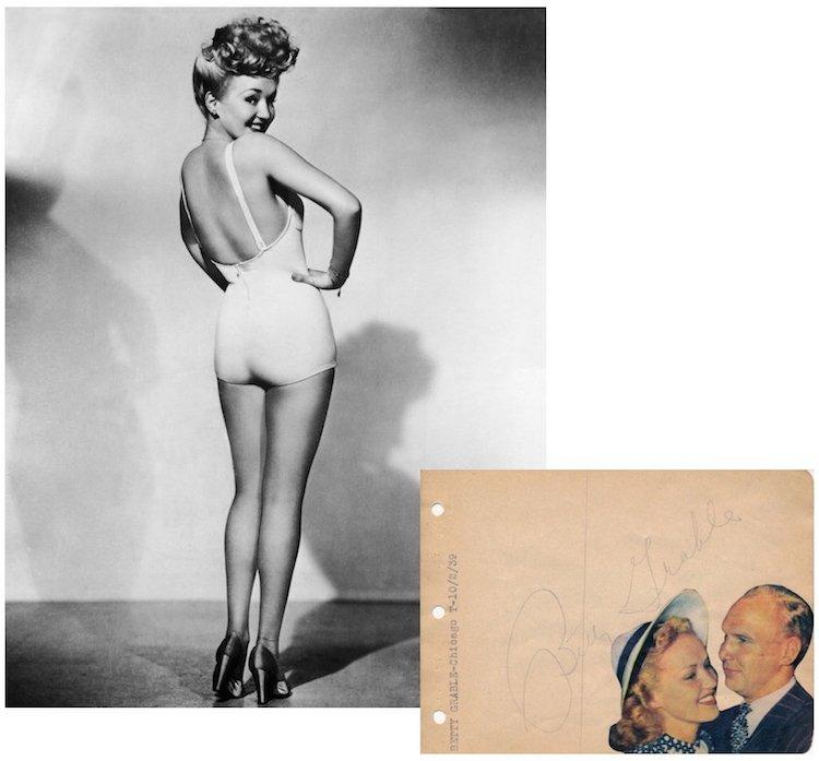 Betty Grable - Sex Symbol - 1939 Autograph