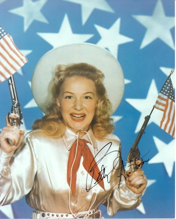 Betty Hutton 'Annie Oakley' Autographed Photograph