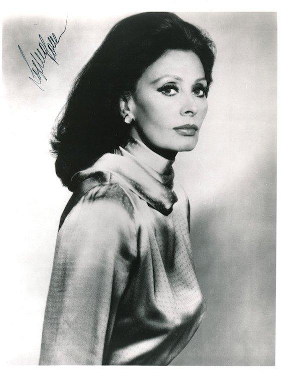 Sophia Loren Autographed Photograph