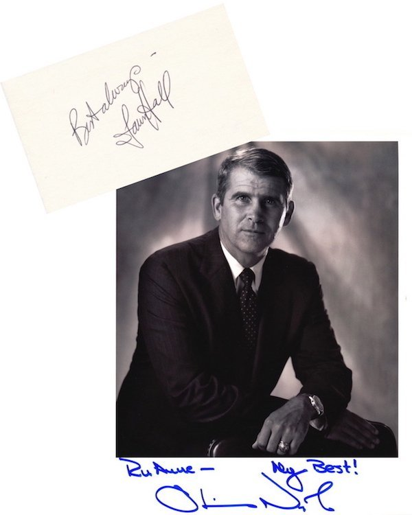 Oliver North - Fawn Hall - Autographed Group Lot