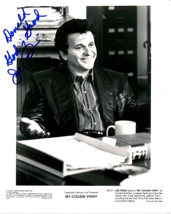 Joe Pesci Autographed Photograph