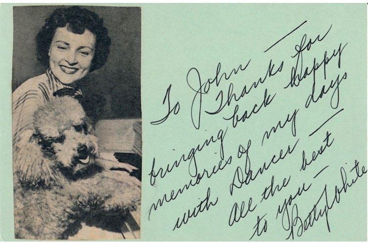 Betty White Autograph