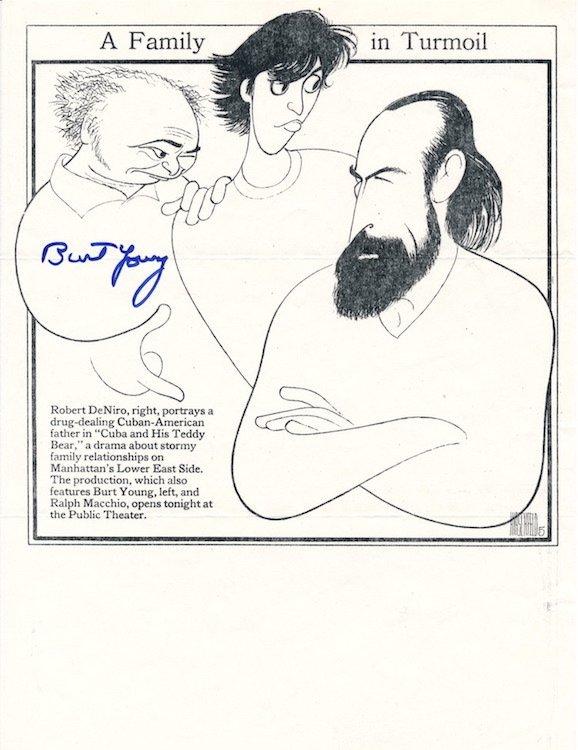 Burt Young - Autographed Al Hirshfield Print