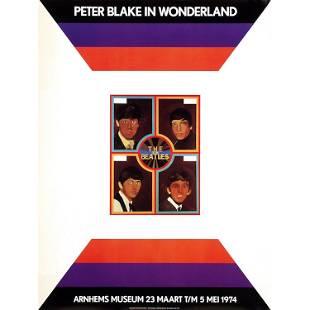 Beatles Peter Blake in Wonderland 1974 Poster