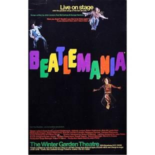 Beatles Beatlemania 1977 Theater Show Poster