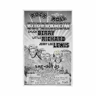 Chuck Berry Jerry Lee Lewis 2003 Concert Poster