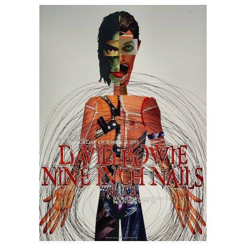 David Bowie - Nine Inch Nails - 1995 Concert Poster