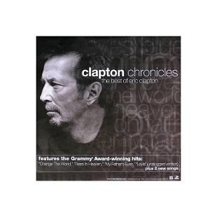 Eric Clapton Clapton Chronicles 1999 Promo Poster