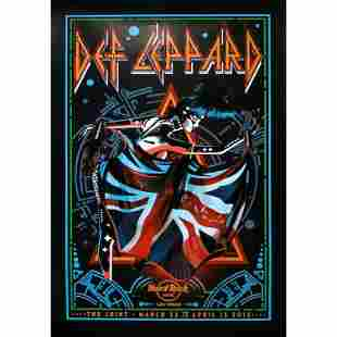 Def Leppard 2013 Hard Rock Residency Concert Poster