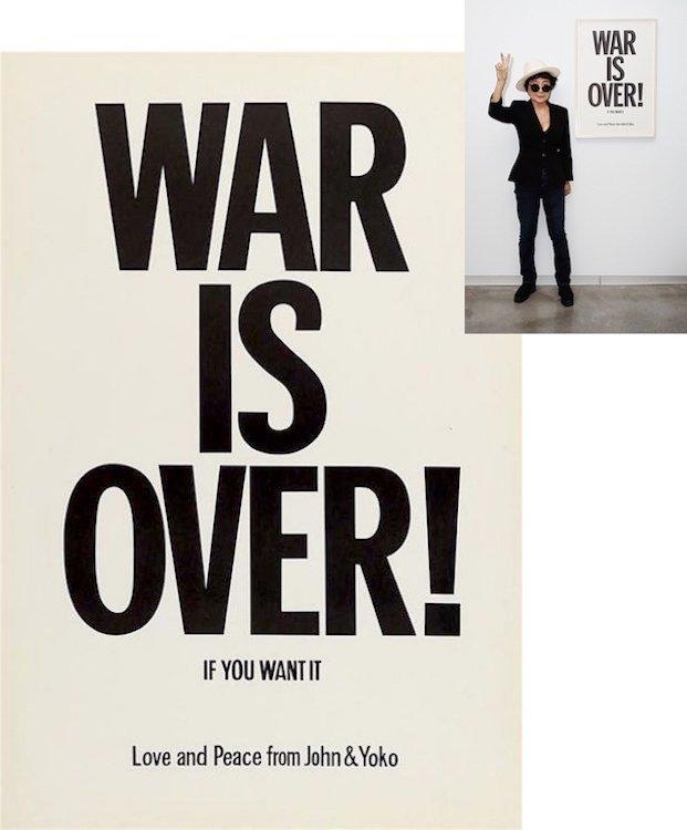 John Lennon & Yoko Ono - War Is Over! - Poster