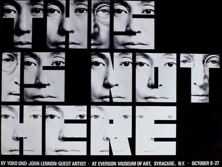 John Lennon & Yoko Ono - This Is Not Here - 1971 Poster