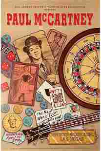 Paul McCartney 1993 Bill Graham Concert Poster