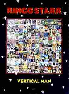 Ringo Starr Vertical Man 1998 Promo Poster