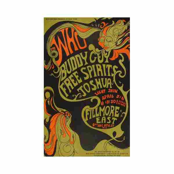 The Who - 1968 Fillmore East Concert Poster