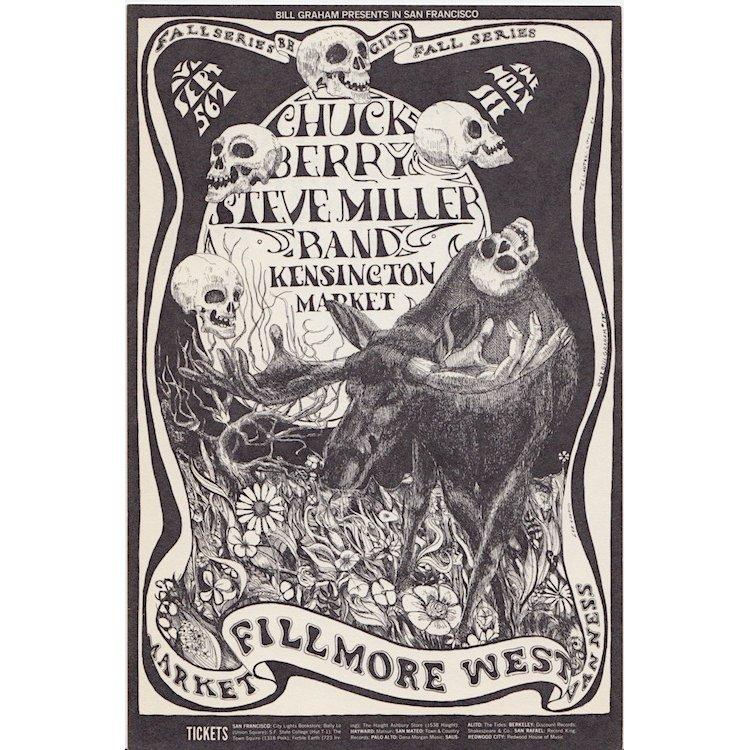 Chuck Berry - Steve Miller Band - 1968 Concert Handbill