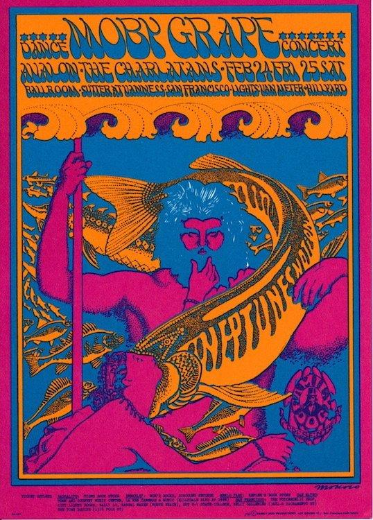 Moby Grape - 1967 Family Dog Concert Handbill