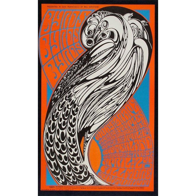 The Byrds - Moby Grape - 1967 Handbill