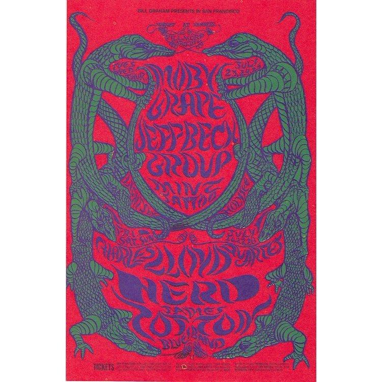 The Jeff Beck Group - Moby Grape - 1968 Handbill