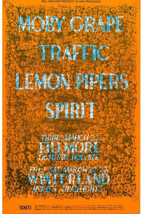 Traffic - Moby Grape - 1968 Fillmore Handbill
