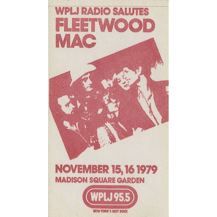 Fleetwood Mac - 1979 MSG Backstage Pass