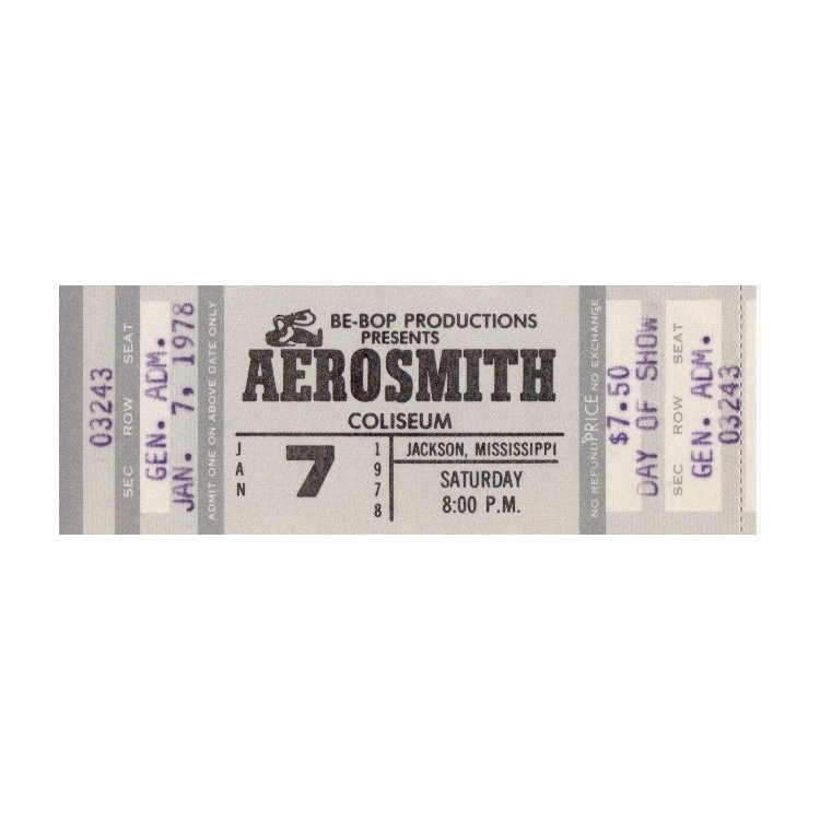 Aerosmith - 1978 Vintage Concert Ticket