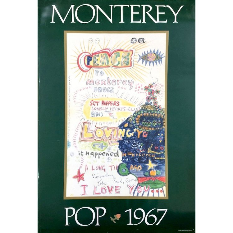 Beatles - Monterey Pop Festival - Poster
