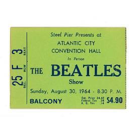 Beatles - Steel Pier - 1964 Vintage Concert Ticket