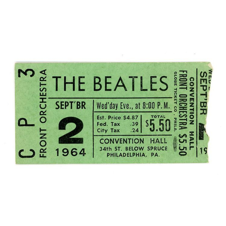 Beatles - Steel Philadelphia - 1964 Vintage Concert