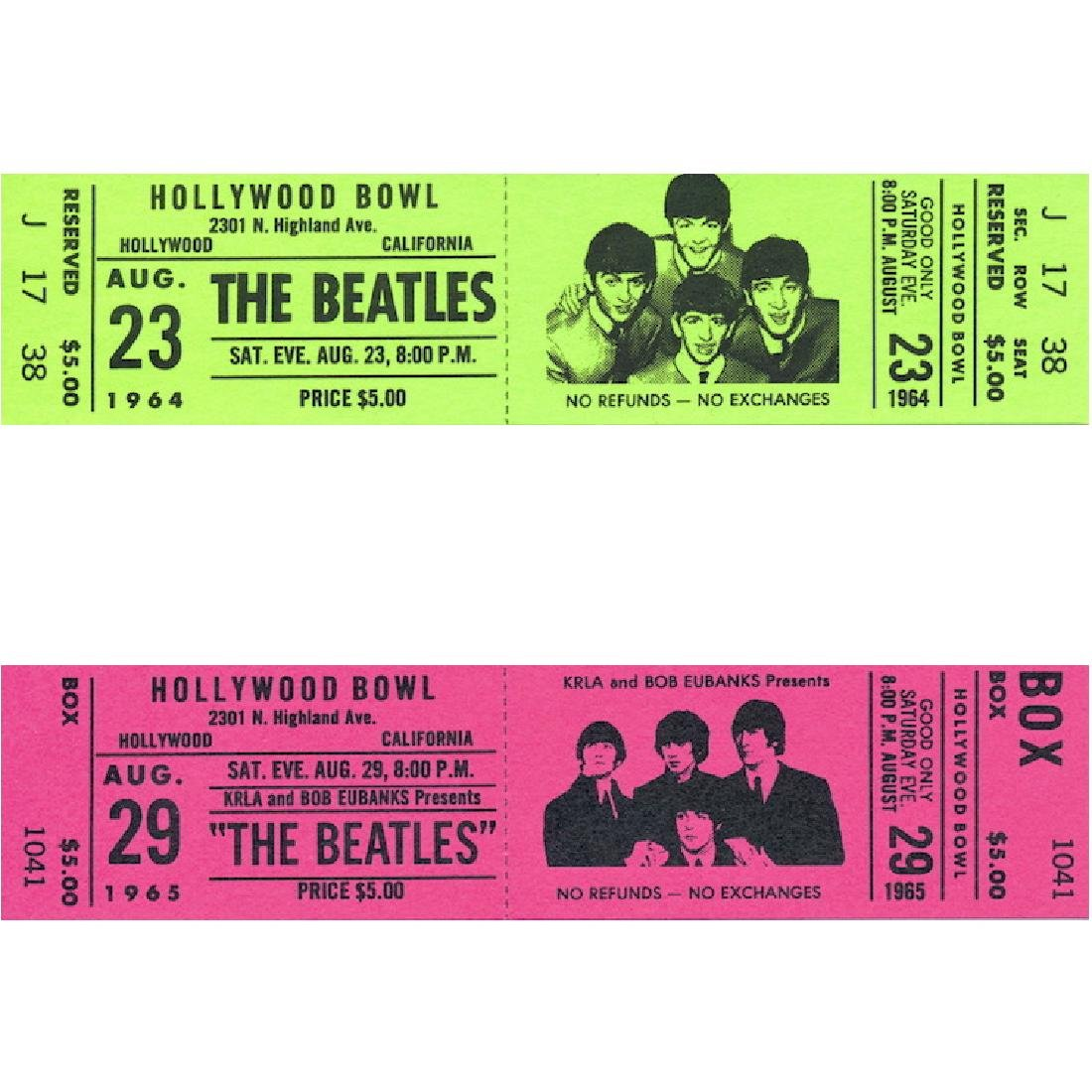 Beatles - Hollywood Bowl Album - Promotional Tickets