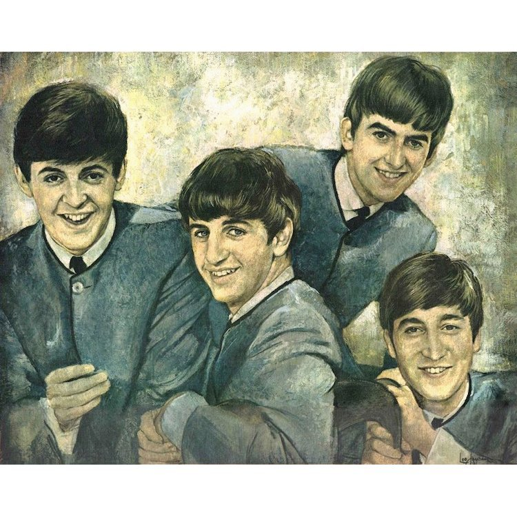 Beatles - Buddies Club - 1964 Portrait Canvas Print