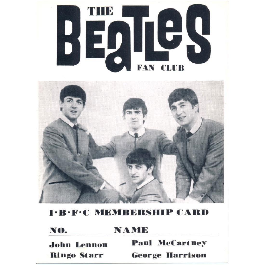 Beatles - 1965 IBFC Fan Club Membership Card