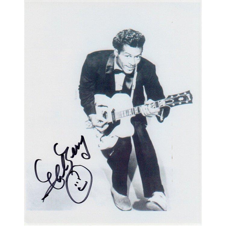 Chuck Berry Autographed Photograph
