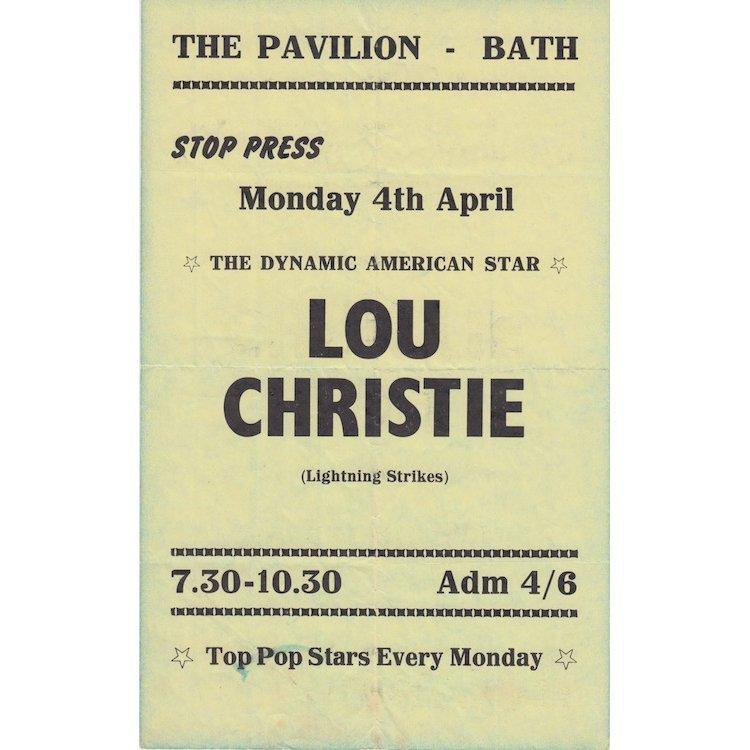 Lou Christie - 1965 Concert Handbill