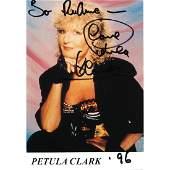 Petula Clark Autographed Postcard