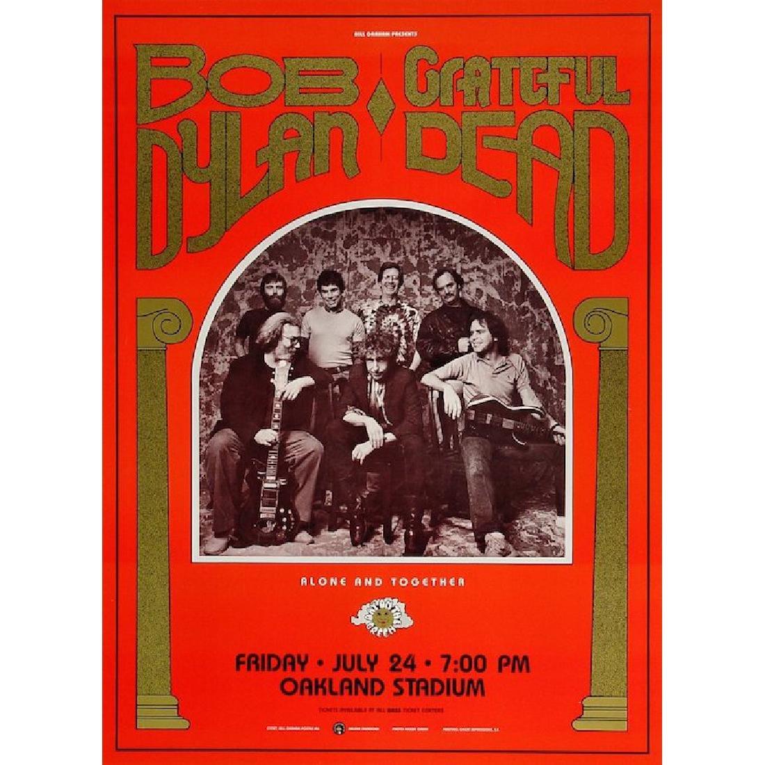 Bob Dylan - Grateful Dead - 1987 Concert Poster